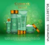 vector 3d cosmetic illustration ... | Shutterstock .eps vector #1011385738