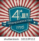 Vector Independence Day Badge ...
