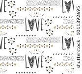 vector cute seamless pattern.... | Shutterstock .eps vector #1011392695