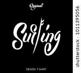 vector illustration surfing... | Shutterstock .eps vector #1011395056