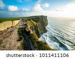 coastal footpath walk on the... | Shutterstock . vector #1011411106