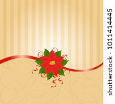 christmas  wedding invitation... | Shutterstock . vector #1011414445
