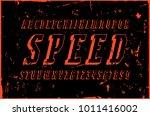 italic serif bulk font in the... | Shutterstock .eps vector #1011416002