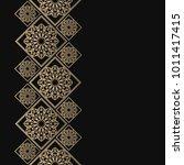 golden frame in oriental style. ... | Shutterstock .eps vector #1011417415