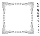 ornate black square frame  page ... | Shutterstock .eps vector #1011421135