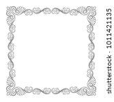 ornate black square frame  page ... | Shutterstock .eps vector #1011421135