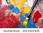 Primary Acrylic Colors On A...