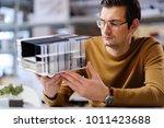 man working in design and... | Shutterstock . vector #1011423688