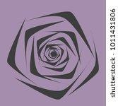 rose. vector flower. beautiful...   Shutterstock .eps vector #1011431806