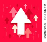 up arrows  many different... | Shutterstock .eps vector #1011432445