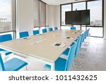 meeting room with large screen   Shutterstock . vector #1011432625