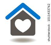 house heart icon vector. home... | Shutterstock .eps vector #1011433762