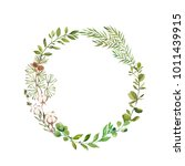 wreaths and design elements... | Shutterstock . vector #1011439915