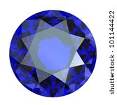 round blue gemstone isolated on ... | Shutterstock . vector #101144422