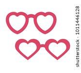 valentine's day photobooth prop ... | Shutterstock .eps vector #1011446128