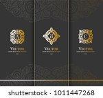 vector emblem. elegant  classic ... | Shutterstock .eps vector #1011447268
