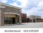 New Commercial, Retail and Office Space available for sale or lease - stock photo
