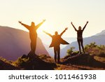 group of three happy friends...   Shutterstock . vector #1011461938