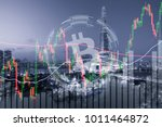 bitcoin trading exchange stock... | Shutterstock . vector #1011464872