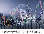 bitcoin trading exchange stock... | Shutterstock . vector #1011464872