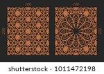 laser cutting set. woodcut... | Shutterstock .eps vector #1011472198