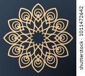 laser cutting mandala. golden... | Shutterstock .eps vector #1011472642