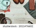 set of stylish male hipster... | Shutterstock . vector #1011476602