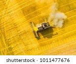 aerial view of combine...   Shutterstock . vector #1011477676