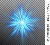 blue burst color forces light.... | Shutterstock .eps vector #1011477922