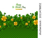 saint patrick's day border with ... | Shutterstock .eps vector #1011478852