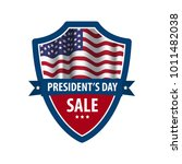 happy president's day sale... | Shutterstock .eps vector #1011482038