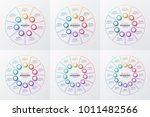 vector 7 8 9 10 11 12 parts... | Shutterstock .eps vector #1011482566
