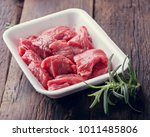 raw meat prepared for cooking ...   Shutterstock . vector #1011485806