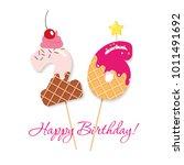 Happy Birthday Card. Festive...