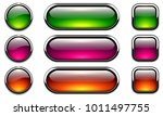 glossy buttons set with... | Shutterstock .eps vector #1011497755