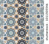 vector seamless pattern ethnic... | Shutterstock .eps vector #1011505546