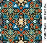 vector seamless pattern ethnic... | Shutterstock .eps vector #1011505552