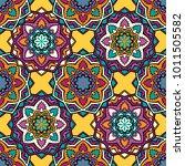 vector seamless pattern ethnic... | Shutterstock .eps vector #1011505582
