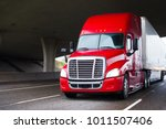 a modern big rig semi truck for ... | Shutterstock . vector #1011507406