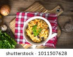 risotto with vegetables on a... | Shutterstock . vector #1011507628