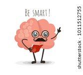 brain reading book cartoon...   Shutterstock . vector #1011512755