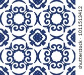vector arabesque pattern.... | Shutterstock .eps vector #1011513412