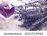 Lavender Dried Flowers On Whit...
