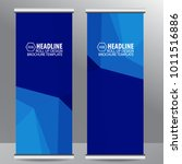 roll up business brochure flyer ...   Shutterstock .eps vector #1011516886