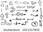 hand drawn doodle vector arrows. | Shutterstock .eps vector #1011517852