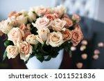 beautiful bouquet of roses... | Shutterstock . vector #1011521836