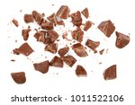 chocolate pieces isolated on... | Shutterstock . vector #1011522106