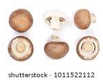 fresh champignon mushrooms...   Shutterstock . vector #1011522112