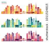 seoul detailed skyline. travel...   Shutterstock .eps vector #1011524815