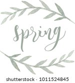 spring. watercolor branches...   Shutterstock .eps vector #1011524845